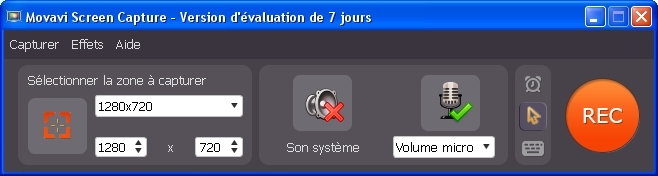 Une interface simple.