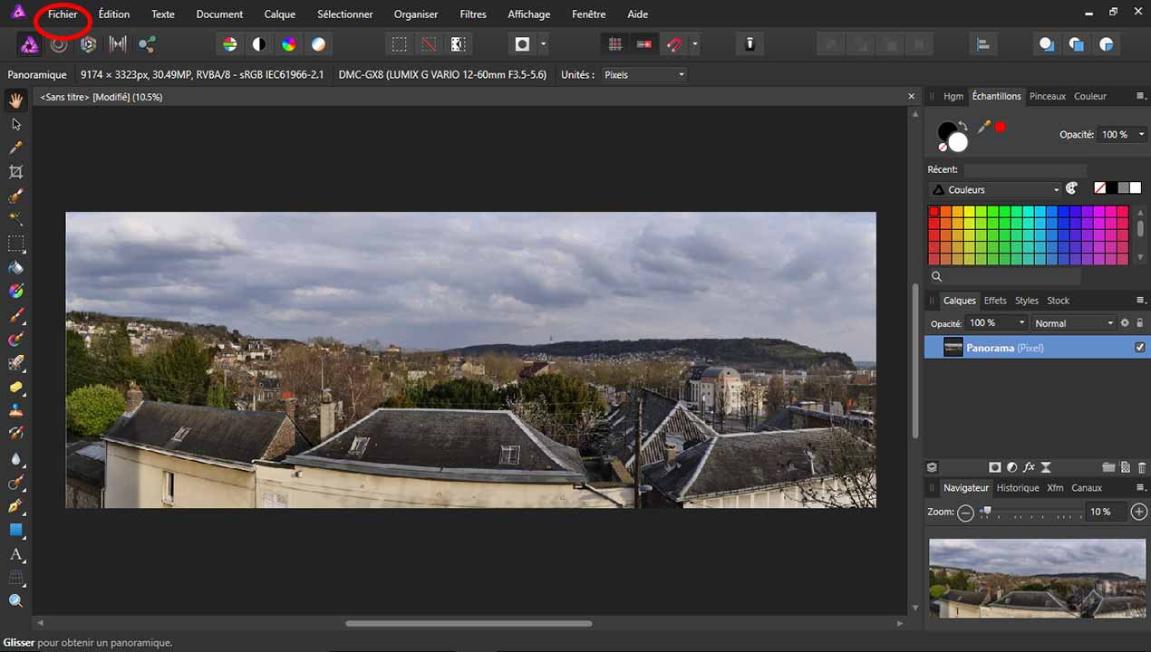 photo panoramique avec affinity photo  cr u00e9er des panoramas
